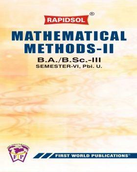Mathematical Methods - II (Pbi U)-R